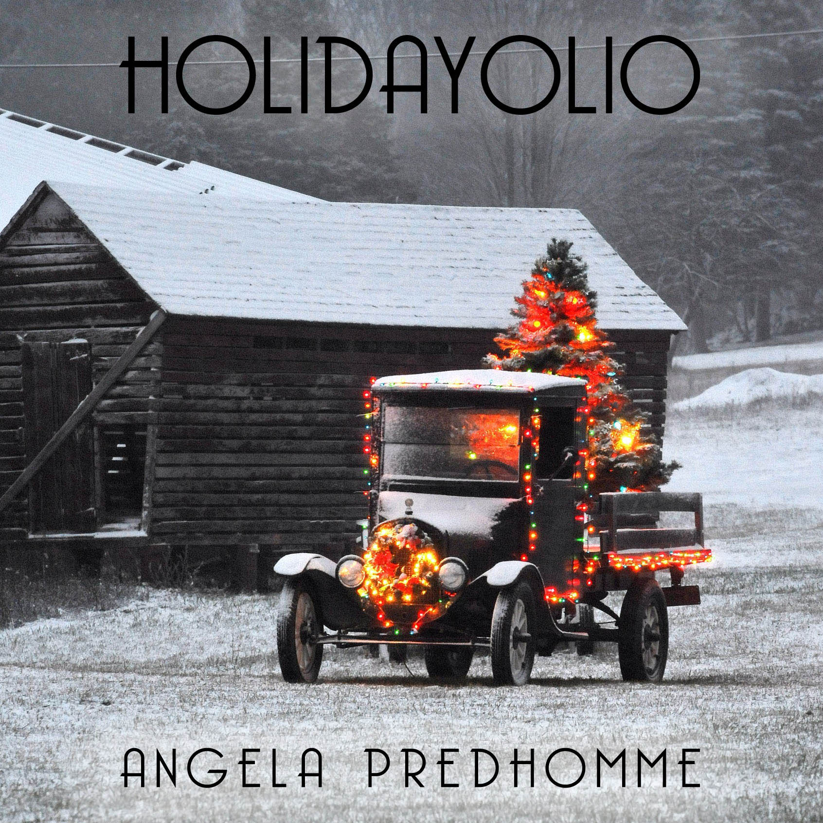 Holidayolio - a collection of Christmas songs by singer-songwriter Angela Predhomme